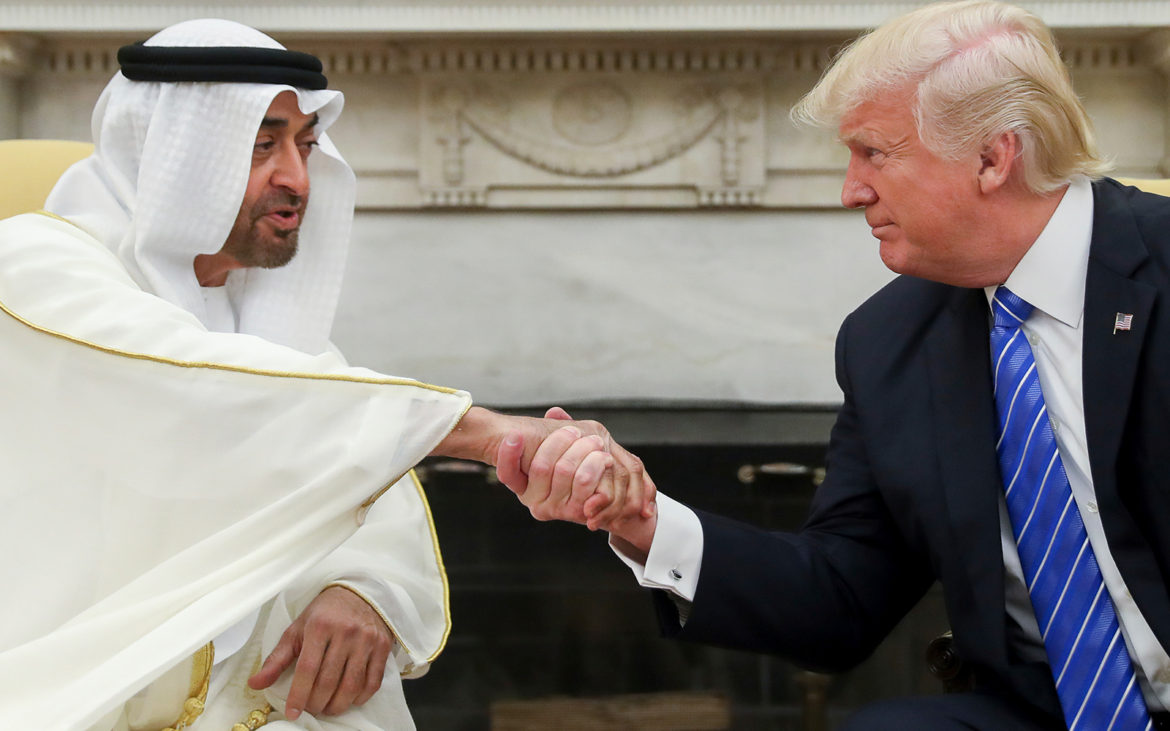 A NEW DAWN IN THE MIDDLE EAST AS TRUMP, SHEIKH MOHAMMED AND NETANYAHU SHAKE HANDS ON THE ABRAHAM ACCORD