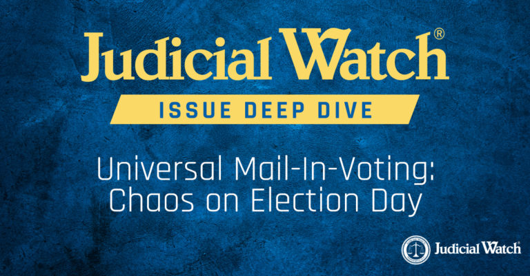 UNIVERSAL MAIL-IN VOTING MAY LEAD TO MASSIVE FRAUD IN U.S. PRESIDENTIAL ELECTIONS